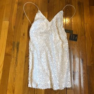 *Brand New* Lulus White Sequin Dress